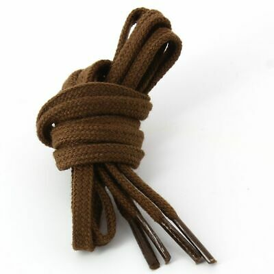 Lace Up Flat And Fine Cotton 5mm - Brown • 2.65£