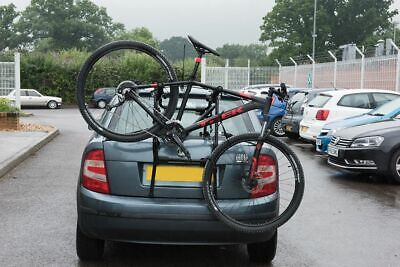 3 Bike Bicycle Car Cycle Carrier Rack Universal Fitting Hatchback Saloon Estate • 30.23£
