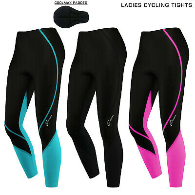 Ladies Women Cycling Trousers Cycle Winter Legging Tights Padded Thermal Trouser • 16.75£
