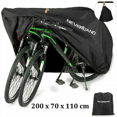 Mountain Bike Bicycle Cover Heavy Duty Waterproof Rain UV Protection For 2 Bikes • 12.66£