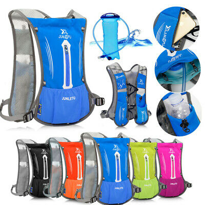 Cycling Backpack 2L Water Bladder Bags Hydration Packs Camelback Hiking Outdoors • 18.99£