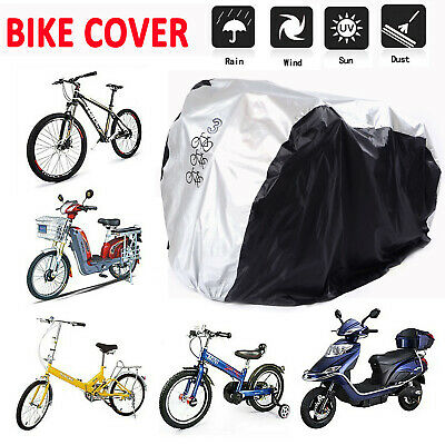 Waterproof For 3 Bikes Bicycle Cycle Bike Rain Cover Outdoor Rust UV Prevention • 14.99£