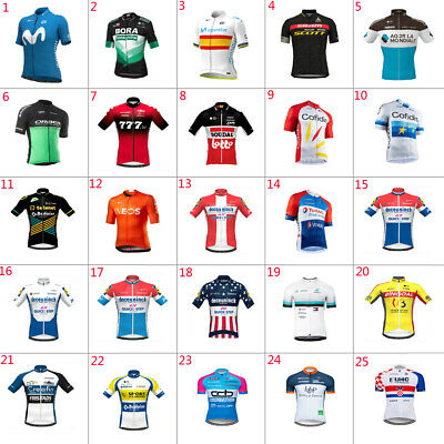 2020 Mens Team Cycling Jersey Cycling Short Sleeve Jersey  Bicycle Jerseys • 14.99£