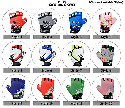3s Sports Children Kids Boys Girls Padded Cycling Gloves Bmx Bike Cycle Bicycle • 5.99£