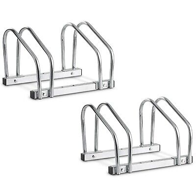 VonHaus Bike Stand Rack Wall Or Floor Mountable With Space For 4 Bikes • 19.99£