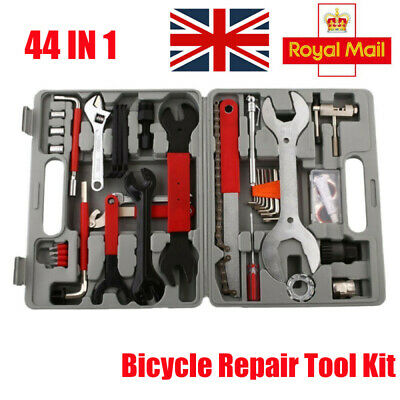 Bicycle Repair Tool Kit 44PCS MTB Bike Crank Chain Complete Maintenance Wrench A • 37.59£