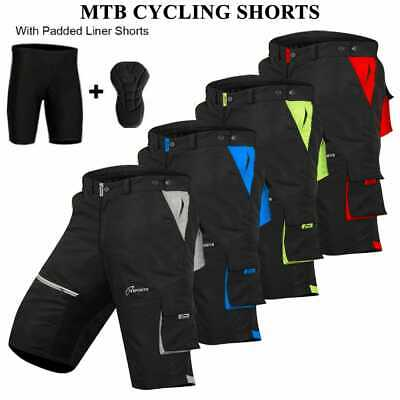 MTB Cycling Short Off Road Bicycle With CoolMax Padded Liner Shorts 3S SPORTS  • 23.99£