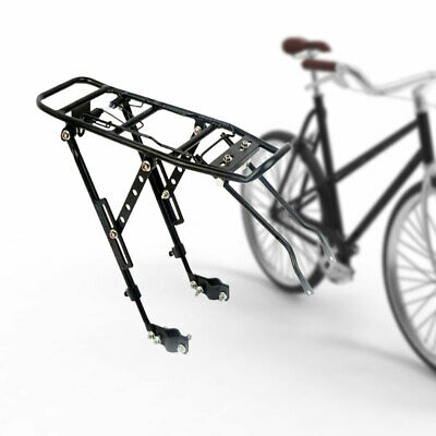 Black Universal Bike Rear Luggage Rack Carrier Pannier With Reflector Bicycle Mm • 14.99£