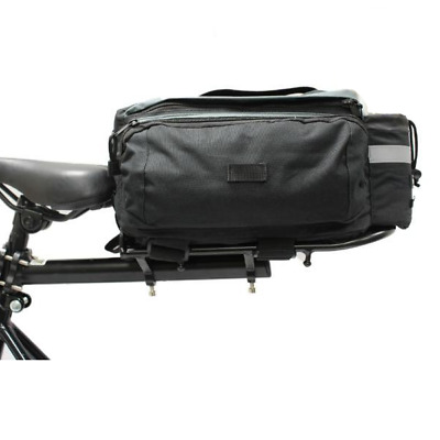 Pedalpro Bicycle/bike Aluminium Rear Rack With Black Pannier Bag - Seat Mounted • 17.99£