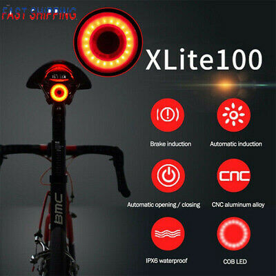 New XLite 100 Waterproof USB LED Taillight For Bicycle Smart Sense Warning Light • 9.69£