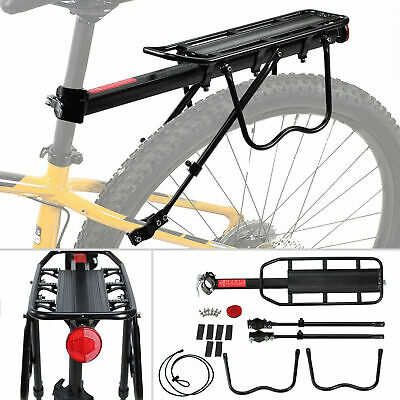 Bicycle Back Rear Rack Bike Luggage Seat Post Frame Mounted Carrier Cargo Rack E • 14.98£