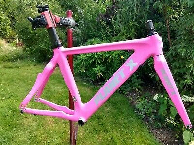 Planet X Stealth Pro Carbon Time Trial Triathlon Frameset Small Pink • 150£