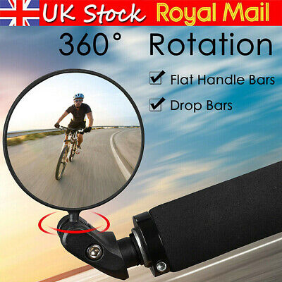 MTB Mountain Bike Rearview Mirror Bicycle Handlebar Convex Rear View Mirror 360° • 5.85£