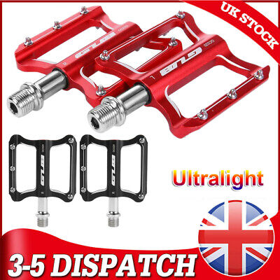 Bicycle Pedals Aluminum Alloy 9/16  Road Cycling MTB Mountain Bike Baring Pedals • 14.95£