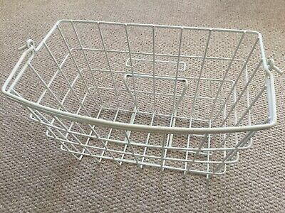 Raleigh Twenty Shopper Original White Front Wire Basket With 'drop On' Fitting. • 25£