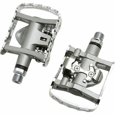 Shimano PD M324 SPD One Sided MTB Bike Clipless Pedals And Cleats • 39.99£