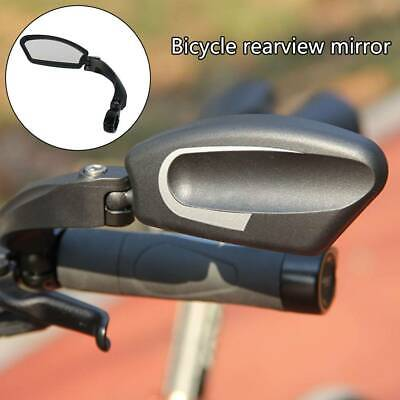 Bicycle Bike Cycle Handlebar Left Rear View Rearview Mirror Rectangle Back UK • 10.09£