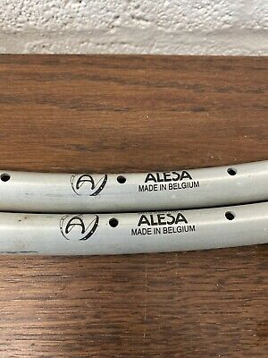 NOS Pair Alesa 700c Road Bike 36 Hole 700c V Shape Bicycle Rims 19mm 2181 • 14.99£