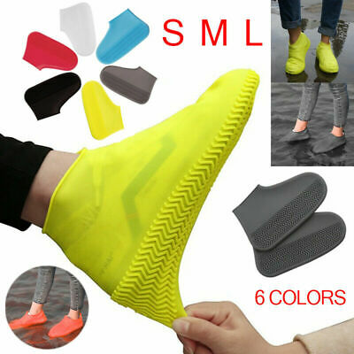 Silicone Overshoes Anti-Slip Rain Waterproof Shoe Covers Boot Cover Protector UK • 4.29£