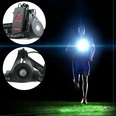 USB Rechargeable LED Night Running Chest Lamp,Torch Warning Lamp Outdoor Sport • 9.25£
