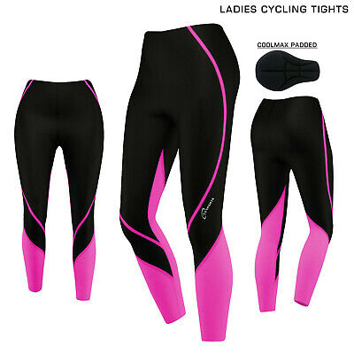 Ladies Women Cycling Tights Winter Thermel Long Pant Cycle Legging Trouser Paded • 16.99£