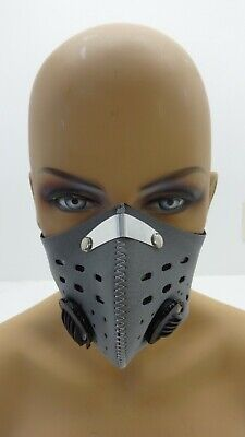 Nwt Xintown Gray Neoprene Sports Mask With Filter And Valves One Size • 8.24£