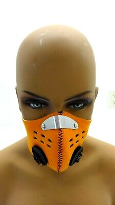 Nwt Xintown Orange Neoprene Sports Mask With Filter And Valves One Size • 8.24£