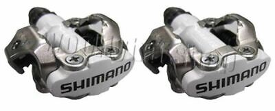 Shimano PDM520 Clipless SPD M520 Cleats & MTB Hybrid Bike Pedals White • 34.99£
