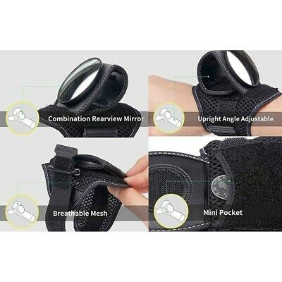 Cycling Riding Wrist Safety Rearview Mirror Guards Wristbands Back Eye Convex UK • 6.99£