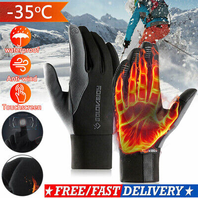 Winter Outdoor Warm Windproof Waterproof Anti-slip Thermal Touch Screen Gloves • 9.89£