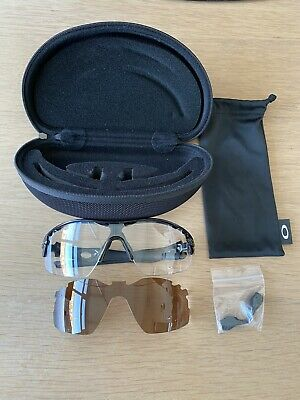 Oakley Sunglasses RADAR PITCH Metallic Black With Polarised And Clear Lenses • 15£