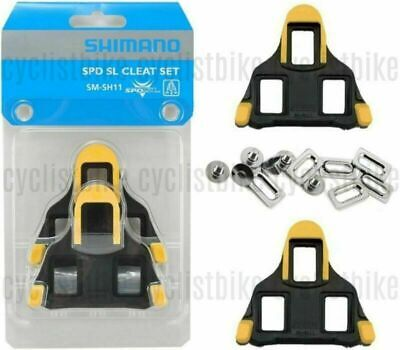 Shimano SM-SH11 Float SPD-SL Road Bike Pedal Cleats +/-3° Yellow NEW • 9.47£