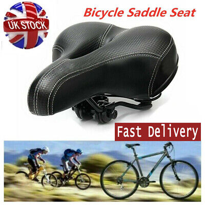 Universal Extra Wide Comfy Cushioned Bicycle Saddle Bike Seat Soft Padded NEW • 6.39£