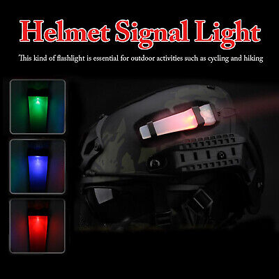 WST Tactical Signal Light Safety Identification Flashing Light Helmet Accessory • 8.50£