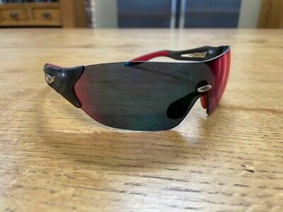 Rudy Project Hypermask Cycling Sunglasses - Frozen Ash - Multi LS Red • 34£
