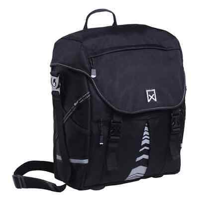 Willex Single Bicycle Pannier Bike Bag Cycle Pouch XL 1200 25 L Black • 46.09£