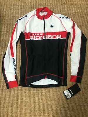 Giordana Mens FRC Trade L/S Jersey - Red/White - M • 27.50£
