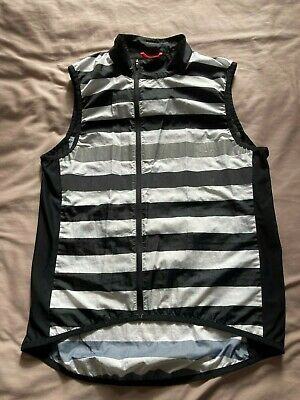 Rapha Brevet Gilet Large Black And White Stripes Road Cycling Classic Rare • 20£