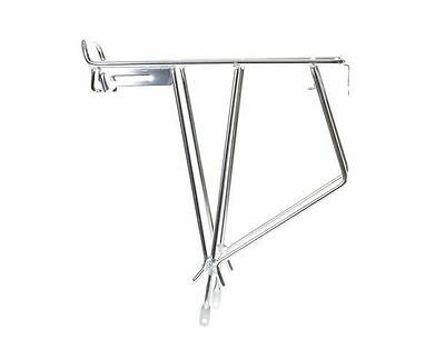 "Keirin Silver Rear Bicycle Pannier Rack Suitable For 27"" And 700c Wheels • 14.89£"