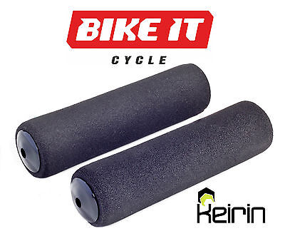 New Foam Cycle Handlebar Grips - Mountain Bike Mtb Bicycle - With Bar End Plugs • 7.99£