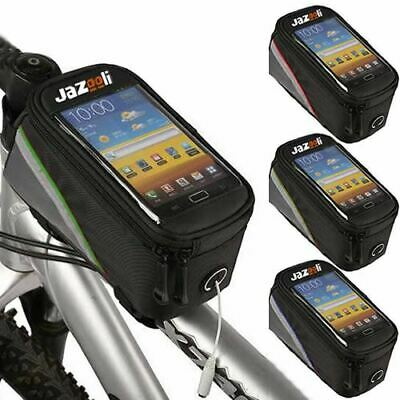 Cycling Bike Bicycle Frame Pannier Front Tube Pouch Bag Mobile Phone Holder • 7.99£