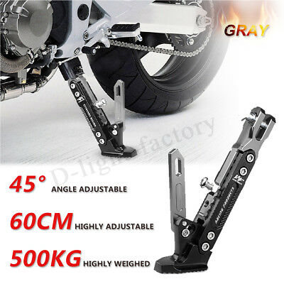 Universal CNC Aluminum Alloy Adjustable Kickstand Foot Side Stand For Motorcycle • 12.99£