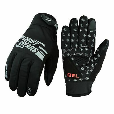 Touchscreen Cycling Gloves Windproof Gel Padded Full Finger Biking Gloves Hiking • 7.99£