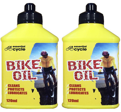 Essential Cycle Bike Chain Oil Cleans Protect Lubricates 120ml • 3.85£