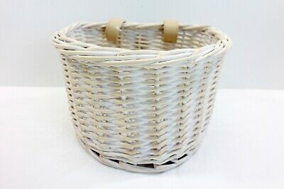 White Small Size Wicker Basket Suitable For Bicycle By All Chic • 14.99£