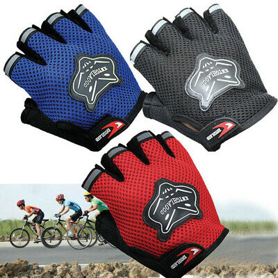 Breathable Kids Children BMX Bike Bicycle Cycling Half Finger Fingerless Gloves • 7.64£