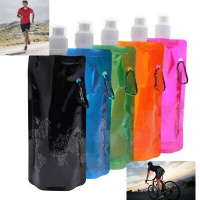 2 X Foldable Running/outdoor Activities Water Bottle,500ml Fully Collapsible  • 3.69£