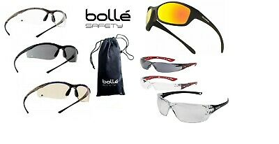 BOLLE CONTOUR Safety Glasses Clear Smoke ESP Anti-Fog Anti-Scratch +Metal Frame • 11.22£