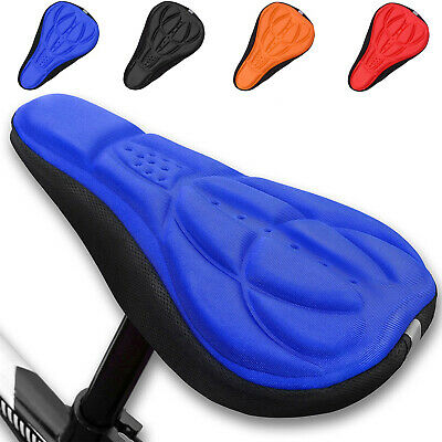 3D Gel Silicone Bicycle Seat Cover Pad Sadle Soft Padded Cushion Bike Cover Pad • 4.99£