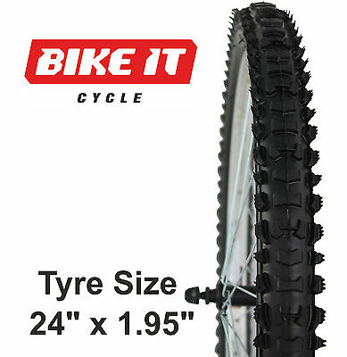 KIDS MOUNTAIN BIKE TYRE 24  X 1.95  KNOBBLY CHILDREN'S MTB BICYCLE CYCLE TYRE • 14.99£